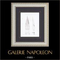Steeple - Notre-Dame-d'Auteuil Church in Paris (France)