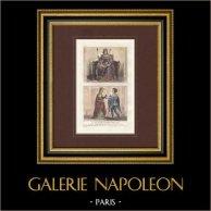 Porträt - Tracht - XIII. Jahrhundert - Ludwig IX von Frankreich - Alix von Bretagne - Guillaume de Lorris