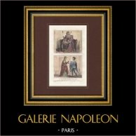 Retrato - Trajes - Siglo XIII - Luis IX de Francia - Alix de Bretaña - Guillaume de Lorris