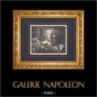 L'Enfer de Dante - Gustave Doré - Chapitre XXVIII - Un Messager Céleste | Gravure sur bois originale dessinée par Gustave Doré. 1862