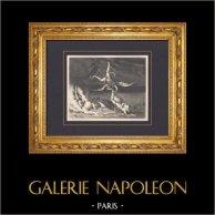 L'Enfer de Dante - Gustave Doré - Chapitre XLVIII - Barattiers - Ciampolo - Alichino