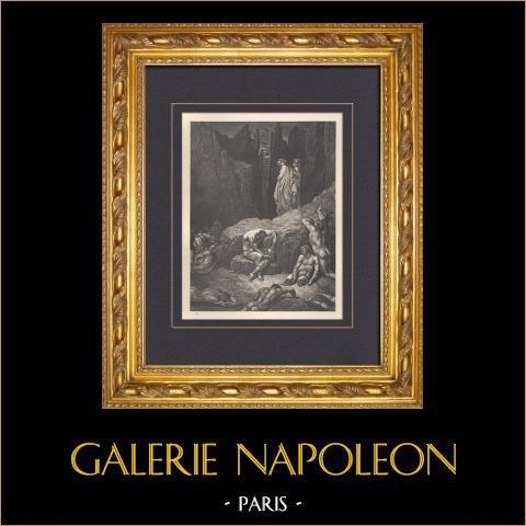 L'Enfer de Dante - Gustave Doré - Chapitre LIX - Geri del Bello | Gravure sur bois originale dessinée par Gustave Doré. 1862