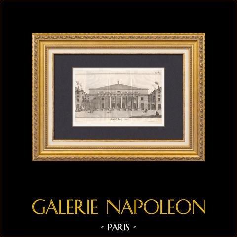 Bouwtekening - Parijs - Comédie-Française - Théâtre de l'Odeon (Marie-Joseph Peyre - Charles de Wailly) |
