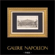 Drawing of Architect - Paris - Comédie-Française - Théâtre de l'Odéon (Marie-Joseph Peyre - Charles de Wailly)