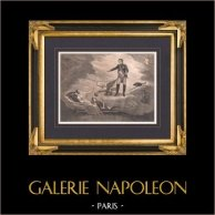 Napoléon Ier et son Fils Napoléon II L'Aiglon - Marie-Louise d'Autriche - Le Songe | Lithographie originale. Anonyme. 1820