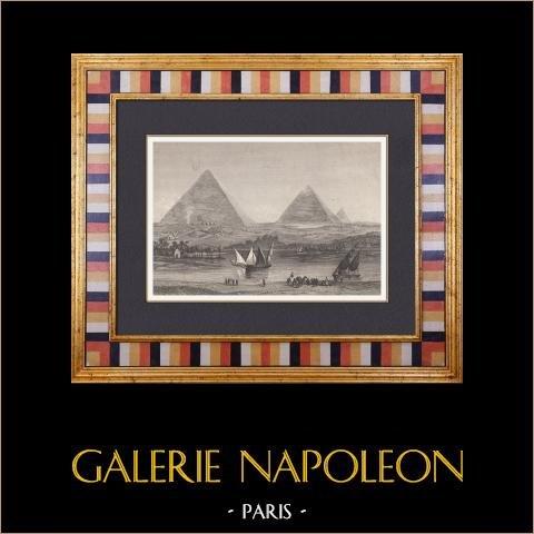 Oude Egypte - Grote Piramide van Gizeh - Piramide van Cheops - Sphinx (Egypte) |