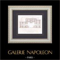 Drawing of Architect - St Cloud - House - Maison d'Habitation (M. Abel Boudier Architecte)