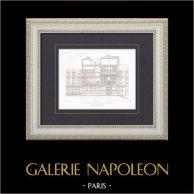 Dibujo de Arquitecto - Paris - Casa - Compagnie du chemin de fer de Paris à Orléans (Louis Renaud)
