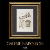 Château de Cadillac (Gironde - France)   Héliogravure originale dessinée par Rapine. 1892