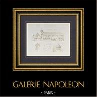 Manoir d'Ango à Varengeville - Colombier - Haute-Normandie (France) | Héliogravure originale dessinée par Malençon. 1892