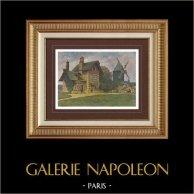 En los alrededores de Paris - Bosque de Boulogne - El Molino - Isla de Francia (Francia) | Original fotocromo grabado grabado por Gillot. 1890