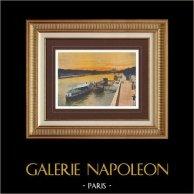 View of Paris - Quays of the Seine (France)