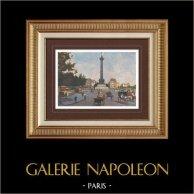 View of Paris - Place de la Bastille - Colonne de Juillet - July Column (France)
