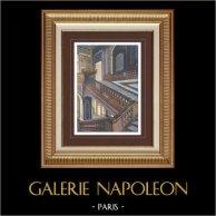 Palace of Versailles - Architecture - Escalier de la Reine - Stairs - Marbel