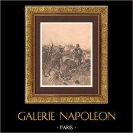 Bataille de Poitiers - Guerre de cent ans (19 septembre 1356)   Photogravure originale d'après Henry Dupray montée sur carton. 1900