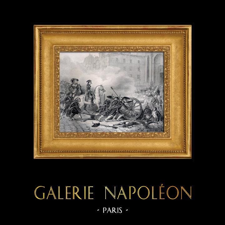 Gravures Anciennes & Dessins | Défaite des Sections - Insurrection Royaliste du 13 vendémaire 1795 | Gravure sur métal | 1837