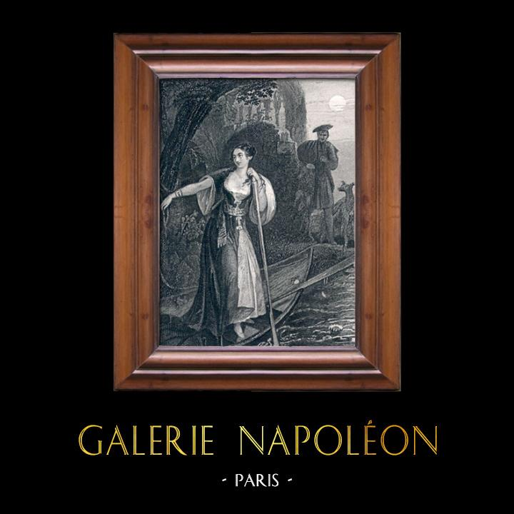 Gravures Anciennes & Dessins | Jeanne de Naples par Alexandre Dumas | Taille-douce | 1850