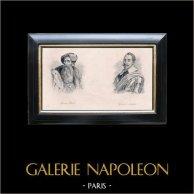 Ritratti dei Re della Svezia - Gustavo Vasa e Gustavo Adolfo | Incisione originale su carta fine. c1810
