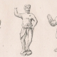 DÉTAILS 04   Statuettes et Collier d'Or - Représentation de Odin et Tyr - divinités de la mythologie nordique