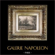 La Madeleine nei pressi di Vernon (Eure) - Abitazione di Casimir Delavigne | Incisione su acciaio originale disegnata da Regnier, incisa da Nyon. 1836