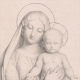 DÉTAILS 05   Groupe en marbre de la Vierge  et l'enfant Jésus par Eugène Andre Oudine (Paul Flandrin)