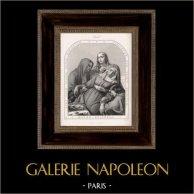 Mater Dolorosa (Gustave Dauphin) | Original litografi efter teckningar av Gsell efter G. Dauphin, tryck av Bertauts. 1842