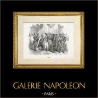 Scène de genre, Costume et Tradition du Monde : L' Arabe | Gravure sur acier dessinée par Th. Guerin, gravée par Pisan. 1892