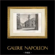 Histoire et Monuments de Paris - Vue de la Halle aux Blés et Farines