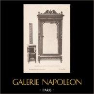 [14/56] - Französische Antike Möbel - Geschnitzte Hölzerne - Antikes Gravuren in Holz durch Gustave Gallerey - Möbelstil - Stil der Französischen Rena