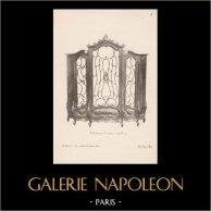 [15/56] - Móveis Artesanais em Madeira Esculpida e Esculturas em Madeiras de Gustave Gallerey - Biblioteca de Estilo Luis XV