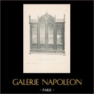 [16/56] - Móveis Artesanais em Madeira Esculpida e Esculturas em Madeiras de Gustave Gallerey - Biblioteca de Estilo Gótico