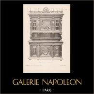 [17/56] - Móveis Artesanais em Madeira Esculpida e Esculturas em Madeiras de Gustave Gallerey - Buffet de Estilo Renascimento (ou Renascença)