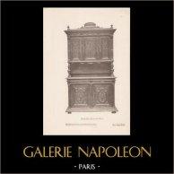 [18/56] - Móveis Artesanais em Madeira Esculpida e Esculturas em Madeiras de Gustave Gallerey - Buffet de Estilo Luis XII