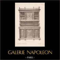 [20/56] - Móveis Artesanais em Madeira Esculpida e Esculturas em Madeiras de Gustave Gallerey - Buffet de Estilo Renascimento (ou Renascença)