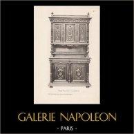 [21/56] - Móveis Artesanais em Madeira Esculpida e Esculturas em Madeiras de Gustave Gallerey - Buffet de Estilo Renascimento (ou Renascença)