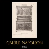 [23/56] - Antique french carved wooden furnitures and Antique Woodcarving by Gustave Gallerey - French Renaissance Style Buffet