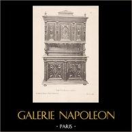 [23/56] - Móveis Artesanais em Madeira Esculpida e Esculturas em Madeiras de Gustave Gallerey - Buffet de Estilo Renascimento (ou Renascença)