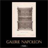 [24/56] - Móveis Artesanais em Madeira Esculpida e Esculturas em Madeiras de Gustave Gallerey - Buffet de Estilo Renascimento (ou Renascença)