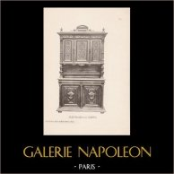 [25/56] - Móveis Artesanais em Madeira Esculpida e Esculturas em Madeiras de Gustave Gallerey - Buffet de Estilo Renascimento (ou Renascença)