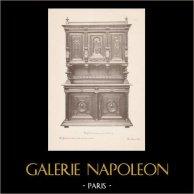 [26/56] - Móveis Artesanais em Madeira Esculpida e Esculturas em Madeiras de Gustave Gallerey - Buffet de Estilo Renascimento (ou Renascença)