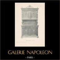 [28/56] - Móveis Artesanais em Madeira Esculpida e Esculturas em Madeiras de Gustave Gallerey - Buffet de Estilo Renascimento (ou Renascença)