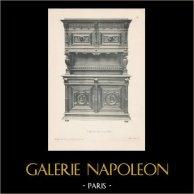 [29/56] - Móveis Artesanais em Madeira Esculpida e Esculturas em Madeiras de Gustave Gallerey - Buffet de Estilo Renascimento (ou Renascença)