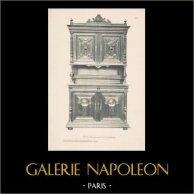 [30/56] - Móveis Artesanais em Madeira Esculpida e Esculturas em Madeiras de Gustave Gallerey - Buffet de Estilo Renascimento (ou Renascença)