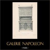 [31/56] - Móveis Artesanais em Madeira Esculpida e Esculturas em Madeiras de Gustave Gallerey - Buffet de Estilo Renascimento (ou Renascença)