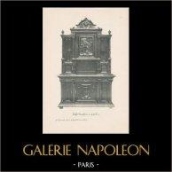 [33/56] - Móveis Artesanais em Madeira Esculpida e Esculturas em Madeiras de Gustave Gallerey - Buffet de Estilo Renascimento (ou Renascença)