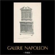 [34/56] - Móveis Artesanais em Madeira Esculpida e Esculturas em Madeiras de Gustave Gallerey - Cabinet de Estilo Renascimento (ou Renascença)