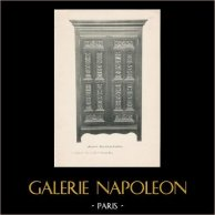 [35/56] - Móveis Artesanais em Madeira Esculpida e Esculturas em Madeiras de Gustave Gallerey - Armário de Estilo Luis XII