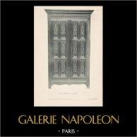 [36/56] - Móveis Artesanais em Madeira Esculpida e Esculturas em Madeiras de Gustave Gallerey - Armário de Estilo Gótico