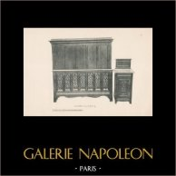 [42/56] - Antique french carved wooden furnitures and Antique Woodcarving by Gustave Gallerey - French Gothic Style Bed