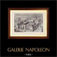 Geschichte und Denkmäler von Paris - Der Palast der Ehrenlegion (Frankreich) | Holzstich gezeichnet von Anonyme, gestochen von Levy. 1881